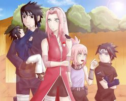The Uchiha Family by Lyne-Chan