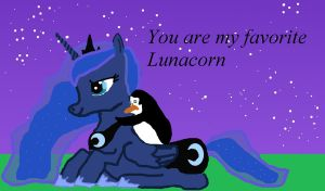 You are my favorite Lunacorn by Clubtail