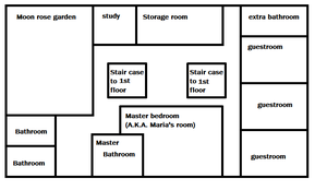 Map for The Ice Witch story setting Manner Floor 2 by yukixnuero