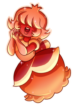 Padparadscha Sapphire by Peach-n-Key