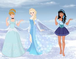 Blue Princesses by M-Mannering
