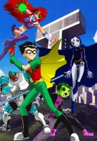 TEEN TITANS GO!! OLD SCHOOL by DrunkenShinigami