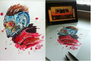 Star Lord (watercolors) by ChackieWhiskers