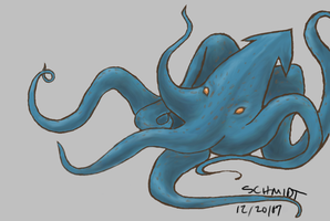 sea monster colored by blahbit