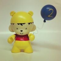 Winnie-the-Pooh Baby Munny by spilledpaint88