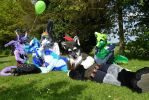 Confuzzled Outdoors Fursuit Shot - DasherSkywere by LiamAaron