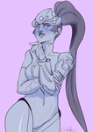 Widowmaker : facial expression request by Corelle-Vairel