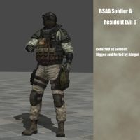 RE6 BSAA Soldier A by Adngel