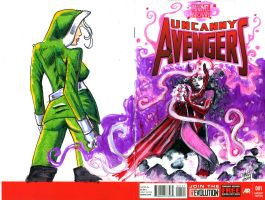 Uncanny Avengers Sketch Cover by ragzdandelion
