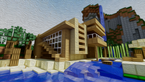 Minecraft Modern house by Djolanderr