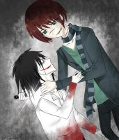 Bond-Jeff the Killer and Homicidal Liu by thefoxhugger