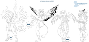 CoR Summons - linework pack by oparu-chan