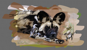 African Wild Dog by KathiawariLover