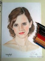 Emma Watson - Colour Pencils by FabianaAzevedo