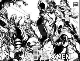 drawn over x men 1 blank variant by Dingodile24