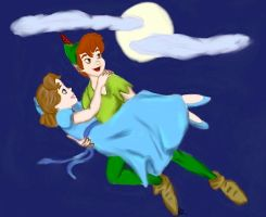 Peter Pan and Wendy by CyrialBerry