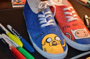 adventure time shoes 3 by bec-waz-ere27