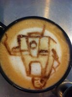 Claptrap (cl4p-tp) Latte by Coffee-Katie