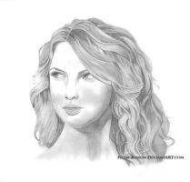 Portrait of Taylor Swift by Feline-Passion