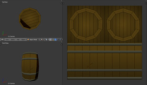 Anime Wood Barrel Base Concept by DragonLoreStudios