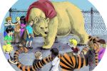 calvin and hobbes vs. pooh and christopher by Andrewtheawsome