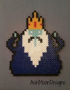 Ice King Perler Bead Figure by AshMoonDesigns