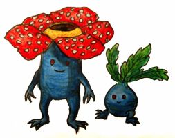 Oddish and Vileplume by Mbecks14