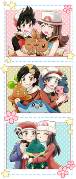 Pokemon and friends - Commission by chikorita85