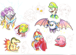 Nintendo sketch dump by KnightoftheStars