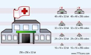 Hospital Icon by medical-icon-set