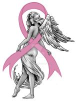 Breast Cancer Angel Tattoo by Carliihde