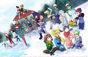 Pokemon Christmas Collab 2014 by MokaSooN