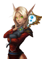 Blood Elf Priest by Blackfang9