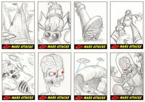 Heritage Mars Attacks! Sketch Cards - 02 by Monster-Man-08