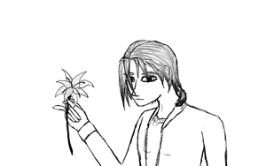 Ignis With a Lily by aquabluejay