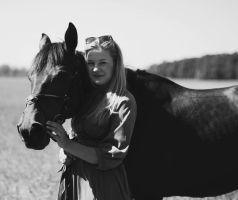 with horse by delskooo