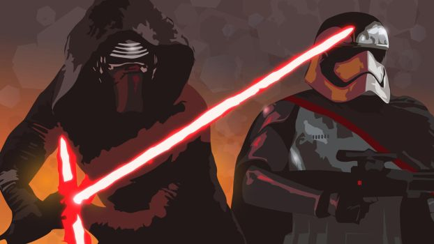 SW The Force Awakens bad guys [vector] by flash-and-blood