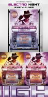 Electro Night A4 Party Flyer [FREE] by VectorMediaGR