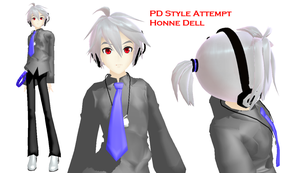 [MMD] PD Style Honne Dell Preview by Xhiao-Yuu