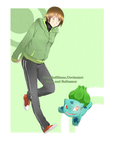 Anna_And_Bulbasaur by Denishellflame