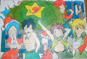 Fairy Tail Christmas - Colored by lu40953