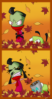 Zim Fall Contest Entry by AngelHuskune