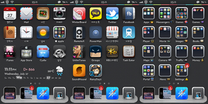 my current theme in 3gs by Tody00