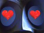 790`s eyes + 3D hearts GIF animation. by Lake333GLD
