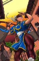 Chun Li By Edwinhuang:Colors: Rob Tee by RobTorres