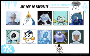 Tito's 10 Favorite Ice/Snow Characters by Tito-Mosquito