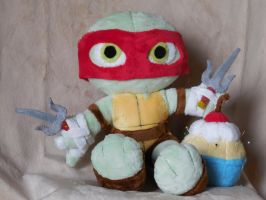 Raphael- Teenage Mutant Ninja Plushie by PlushPrincess