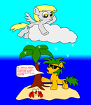 Snow cloud on a Tropical Island by Blackrhinoranger