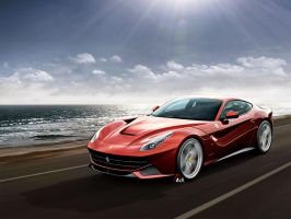 Ferrari F12  Cruising Along   by EDLdesign by EDLdesign