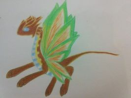 Moon Butterfly dragon: Xephos by minecraftmobs456